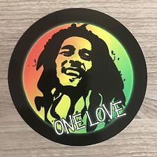 "Bob Marley One Love 4"" Wide Vinyl Sticker - BOGO"