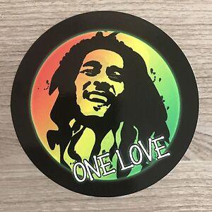 """Bob Marley One Love 4"""" Wide Vinyl Sticker - BOGO"""