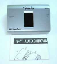 Fender St-1 Stage Tuner Auto Chromatic Digital Silver w/ Instructions & Box