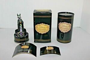 Vtg Disney Villains Maleficent Sculpture Figurine & Fossil Watch Timepiece