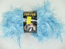 Bizzy1 Lion BRAND Yarn Fun Fur #106 Light Blue 3 Skeins 192 Yards