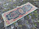 Vintage Turkish small rug, Handmade wool rug, Doormats, Decor rug | 1,3 x 3,1 ft