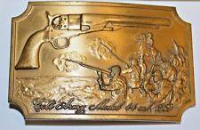 Nice Vintage COLT Firearms US ARMY Revolver Model 44 Cal 1860 Brass Belt Buckle