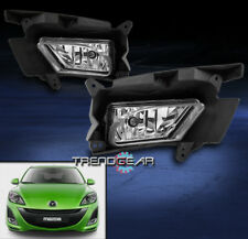 2010-2011 MAZDA 3 SEDAN HATCHBACK BUMPER CHROME FOG LIGHTS W/BULB+WIRING HARNESS