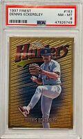 DENNIS ECKERSLEY 1997 TOPPS FINEST CARD #163 PSA GRADED 8 ST LOUIS CARDINALS MLB