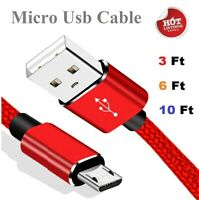 3/6/10Ft Fast Charger Micro USB Cable For OEM Samsung Galaxy S6 S7 Edge Note 4 5