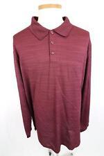 Mens Haggar Clothing Long Sleeve Red Polo Golf Shirt Size 3 XL Tall - BT7