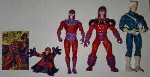 Magneto Mixed Lot Toy Biz, Super Hero Squad, Plus Quicksilver