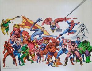 AVENGERS CONAN MARVELMANIA 1978 Vintage Marvel comics poster JOHN BUSCEMA NM