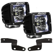 Rigid Radiance A-Pillar LED Lights w/White Backlight for 18-20 Jeep Wrangler JL