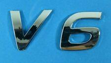 """Chrom Emblem """"v6"""" US Car Ford Mustang/pickup/camaro"""