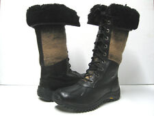 UGG ADIRONDACK WOMEN WINTER TALL BOOTS BLACK US 9.5 / UK 8 / EU 40.5