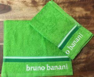 BRUNO BANANI LIME GREEN GUEST TOWELS X12 400 GSM LIGHT HAIR DRESSER TOWELS