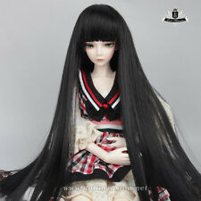 "7-8"" 1/4 BJD Wig MSD Hair Dollfie MID Luts AOD Dod SOOM DZ Black Long WIG #102"