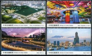Taiwan 2021 MNH Tourism Stamps Kaohsiung City Scenery Bridges Skyscrapers 4v Set