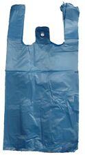 Blue Plastic T Shirt Shopping Grocery Bags Handles Medium 10x5x18 Lot 200