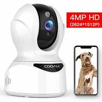 COOAU Pet Camera 4MP HD WiFi Home Security Dog Cat Wireless Sound Motion Detect