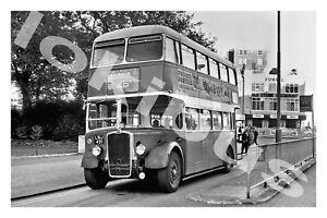 Bus Photograph BRIGHTON HOVE & DISTRICT LNJ 491 [2491] '71