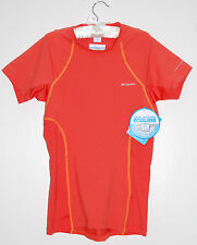 NWT Columbia Women's Orange Coolest Cool Omni-Wick Workout SS T-Shirt sz XS