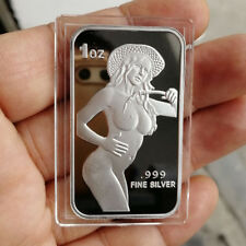 Hot  Cowgirl Series / 1 oz .999 Fine Silver Round Bar Bullion  SB1M5