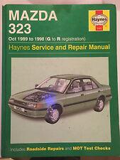 MAZDA 323 HAYNES SERVICE & REPAIR MANUAL Inc' Automatics 1989-1998 G-R Reg'