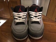 2011 Air Jordan III 3 Stealth Varsity Red Light Graphite Black Size 9.5