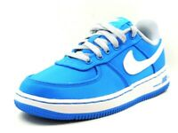 Nike Force One 1 PS Boys Shoes Casual Leather Photo Blue White 596729 400 DS