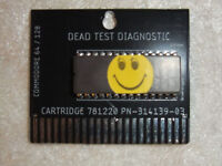Commodore 64 Dead Test Diagnostic Cartridge rev 781220 with 3D printed case!