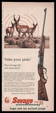 1959 SAVAGE Model 99 99-F Lever-Action Rifle AD Pronghorn