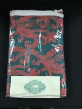 NWT John Robshaw TextilesRed/Green KELP KING Fitted Sheet  100%Cotton