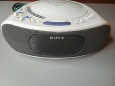Sony Icf-Cd837 White Am/Fm Stereo Clock Radio with Cd Player - Tested! Nice!