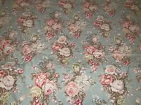 RALPH LAUREN CHARLOTTE 67x87 Twin Size Flat Sheet Green French Country Grapes