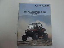 2011 Polaris Ranger RZR XP 900 Service Shop Repair Workshop Manual NEW