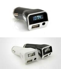 PLMP2A FM Radio Transmitter with USB Port and AUX Input Car Lighter Adaptor