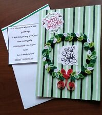 New 2020 Paper quilling Handmade Christmas Card