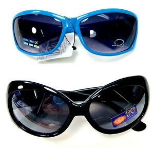 2 Pairs Girls Unbranded Fashion Sunglasses One Blue One Black New