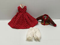"Antique/Vintage Style 3 pc Vintage Style Doll Dress Fashion for 7"" to 9"" doll #4"