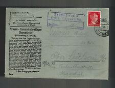 1943 Germany Ravensbruck Concentration Camp Cover KZ Zita Guzur to Teschen