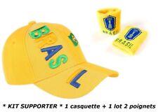 CASQUETTE + BRACELET BRESIL no écharpe drapeau maillot fanion scarf bufanda ...