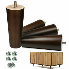 Walnut Color Furniture Legs Sofa Couch Wooden Legs 6 inch For Any Room 4pcs