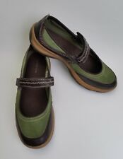 Lands End Shoes Flats Green Brown Mary Janes Womens Size US 7.5 B / EU 38