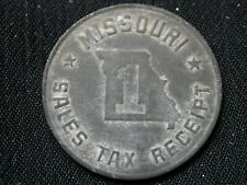 1930's Missouri Sales Tax Token - 1 TOKEN ONLY -PICKED AT RANDOM FROM LARGE LOT!