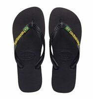 Havaianas Brasil Logo Flip Flops (Black)