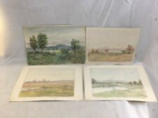 (4) Orig. Horace Robbins Burdick New England Landscape Watercolor Paintings #3