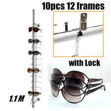 10pcs Lockable 12 Frame Glasses Holder Display Stand For Optical Framesungalss