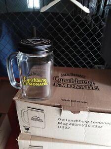 Original Lynchburg Lemonade Krug mit Henkel und Deckel von Jack Daniels - Glas