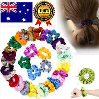 Set of 10 20 40 Velvet Hair Scrunchies Elastic Scrunchy Bobble Ponytail Holder