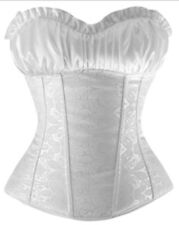 Women Bustier Corset Top Lace Up Boned Bridal Waist Training Corsets Overbust