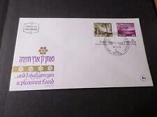 ISRAEL 1973, FDC 1° JOUR LANDSCAPES, AQUEDUCT NEAR AKKO, BREKHAT RAM TOURISTIQUE