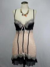 NATIVE INTIMATES Lace&Toile Black Sexy Cupped Chemise Babydoll Lingerie 38C/8